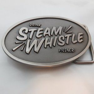Rare Steam Whistle Matte Finish Belt Buckle